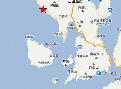 江田島地図2分割南(畑漁港南方)