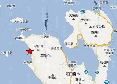江田島地図2分割北(沖美鹿田北方海岸)