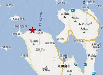 江田島地図2分割北(三高西方海岸)