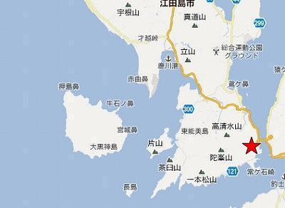 江田島地図2分割南(陀峯山東方)