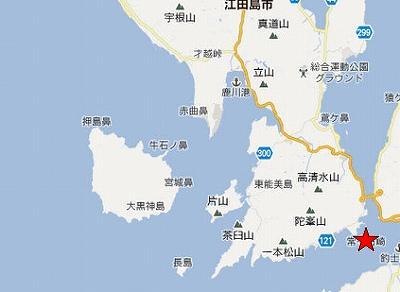 江田島地図2分割南(常ヶ石崎)
