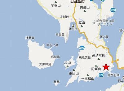 江田島地図2分割南(天狗岩)