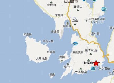 江田島地図2分割南(羅漢岩)