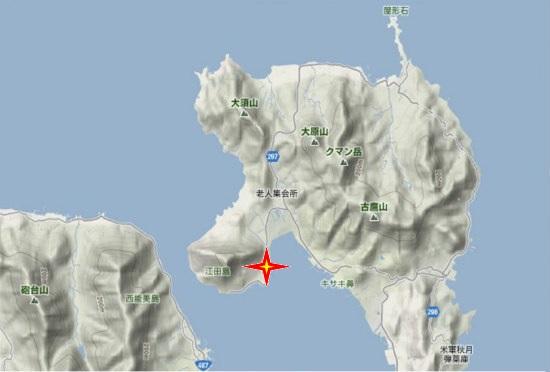 1)江田島町北部・旧津久茂小学校