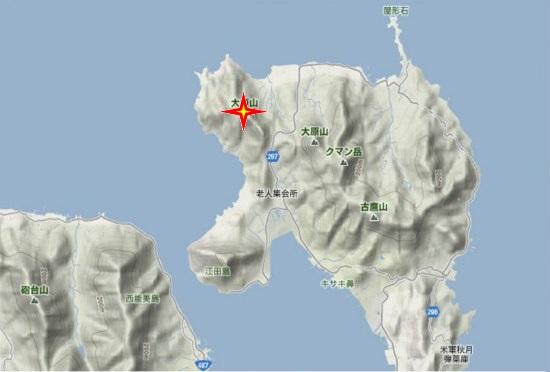 1)江田島町北部・大須山