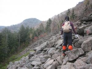 手稲山 がれ場(平和の滝ルート)2014.10.20
