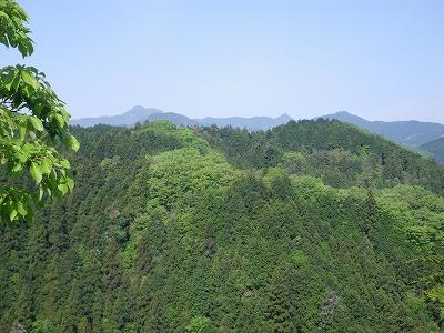 天狗岩からの大岳山