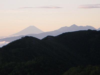 富士山が一段とくっきり