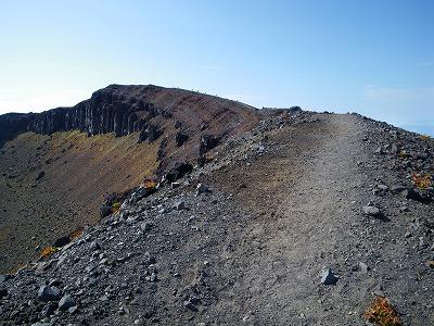 前掛山と火口壁