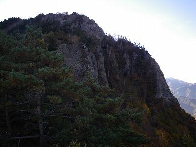 天狗山頂上岩壁