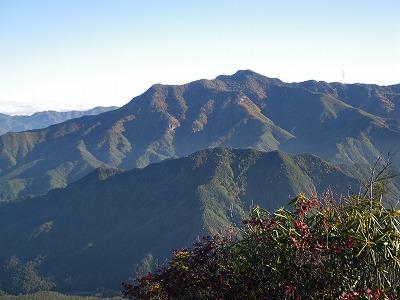 天狗山からの御座山