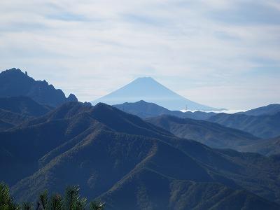 男山からの富士山