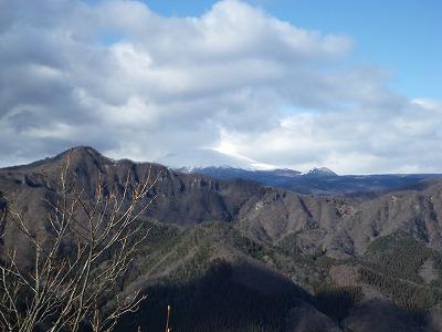 浅間山は真っ白