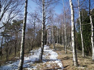 焼山頂上の櫓