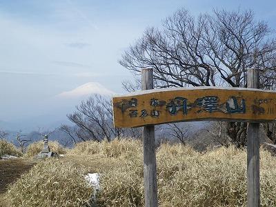 丹沢山からの本日の富士