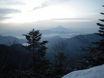 出発直後の富士山