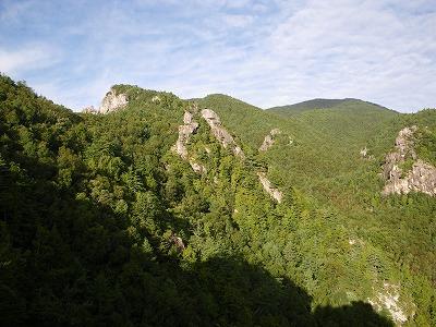 展望台から小川山