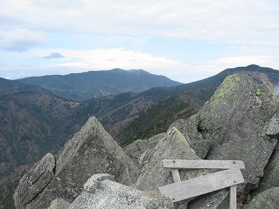 乾徳山から国師岳方向