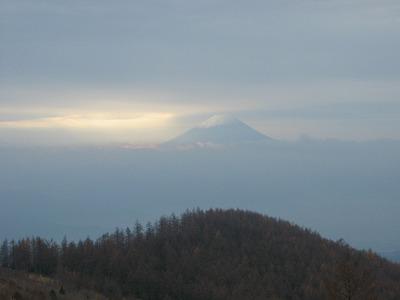 国師原から振り返った富士山