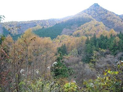 乾徳山登山口から対岸の紅葉