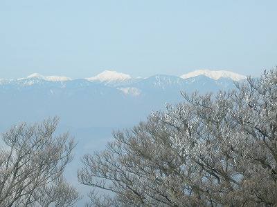 越前岳からの南アルプス1