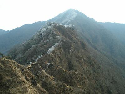 鋸岳から位牌岳