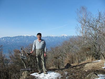 金ヶ岳から南アルプス