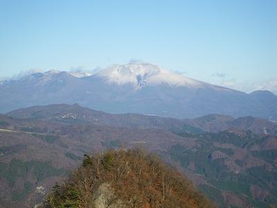 浅間山も真っ白
