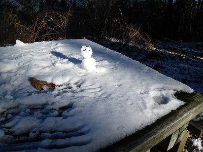 大塚山のミニ雪だるま