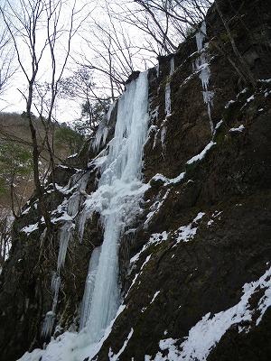玉簾左の氷柱