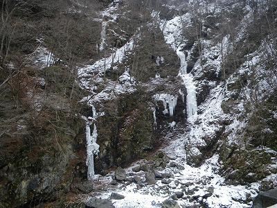 相原橋近くの氷柱