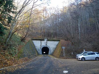 笹子峠のトンネル