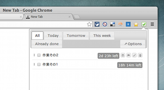 Fancy TODO Chrome拡張 TODOリストの管理