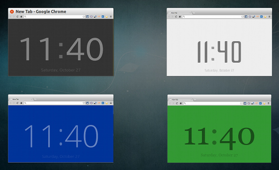 New Tab Clock Chrome拡張 時計