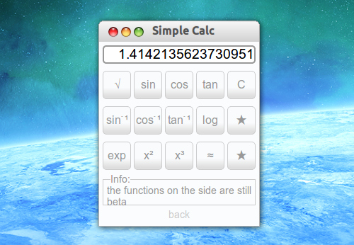 Simple Calc Chromeアプリ 電卓 関数