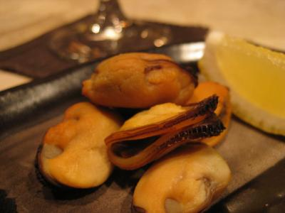 ムール貝の燻製
