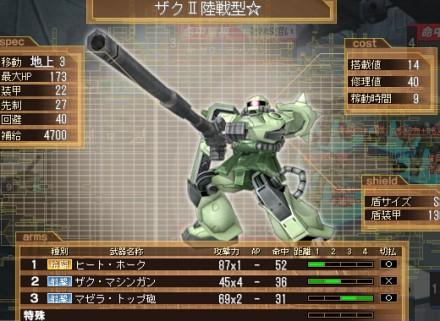 ザクⅡ陸戦型☆