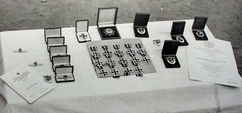 空軍各徽章の授与式前風景