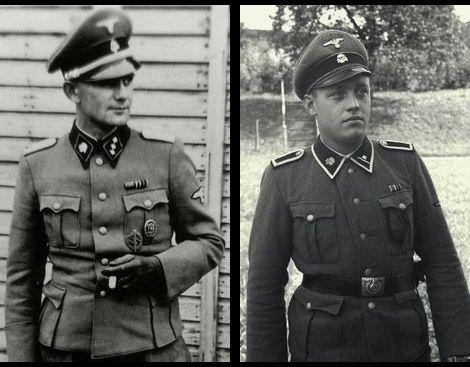 収容所監視隊SS少尉およびSS軍曹