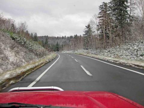 旭岳への道路