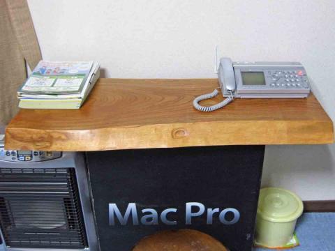 欅の机完成