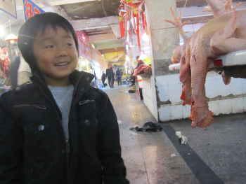 中国の食料品売り場
