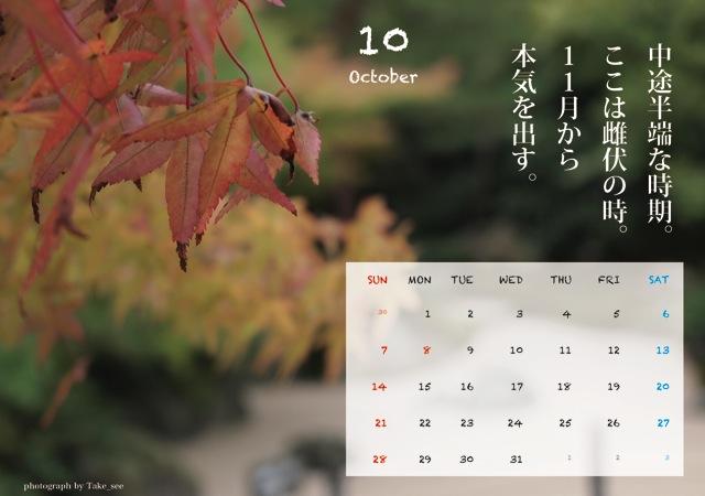 本気出す(10月)