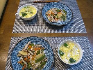 中華丼&酸辣湯