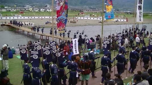 川中島合戦絵巻 上杉