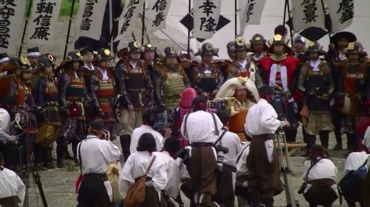 川中島合戦絵巻 三献の儀