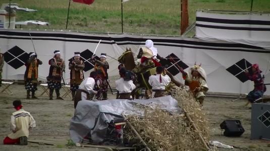 川中島合戦絵巻 一騎討ち