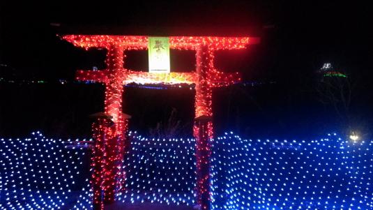 イルミネーション ハイジの村 厳島神社