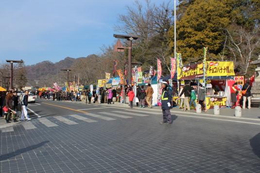 初詣 武田神社 露店