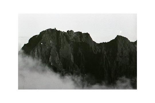 南岳からの北穂高岳